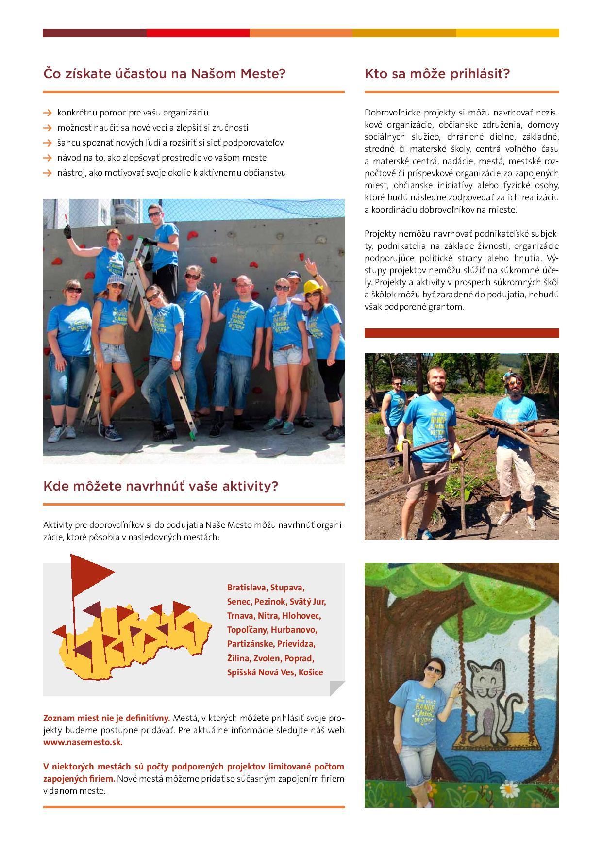 4ffdf0647 NAŠE MESTO 2018 - najväčšie podujatie firemného dobrovoľníctva v ...